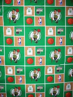 BOSTON CELTICS SHAMROCK LICENSED COTTON FABRIC 17 x 18 1/2 I