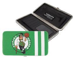 Boston Celtics Ladies Mesh Hard Shell Wallet - Kelly Green