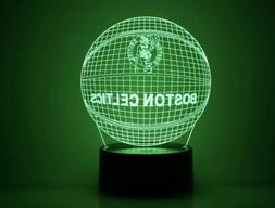 Boston Celtics NBA 3D Acrylic LED Night Light 7 Color Home D
