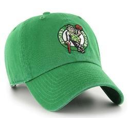 Boston Celtics NBA Adult Green Team Logo Clean-up Hats Cap /