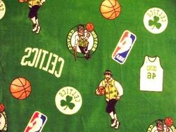BOSTON CELTICS NBA Basketball Licensed Fleece Fabric