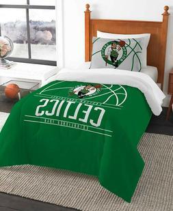 Boston Celtics NBA Basketball Twin Comforter & Pillow Sham 2