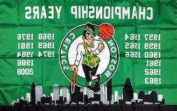 Boston Celtics NBA Championship Flag 3x5 ft Green Sports Ban