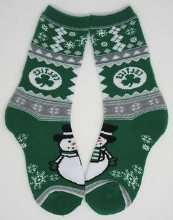 BOSTON CELTICS NBA FOR BARE FEET CHRISTMAS UGLY SWEATER SNOW