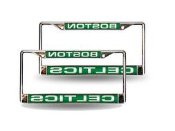 Boston Celtics NBA Chrome Metal  Laser Cut License Plate Fra