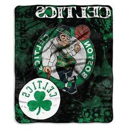 Boston Celtics NBA Royal Plush Raschel Blanket
