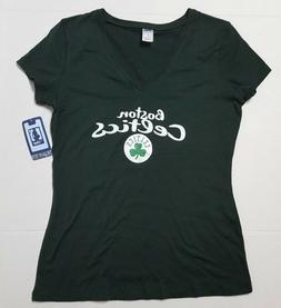 Boston Celtics NBA  Women's Dark Green Short Sleeve Team T-S