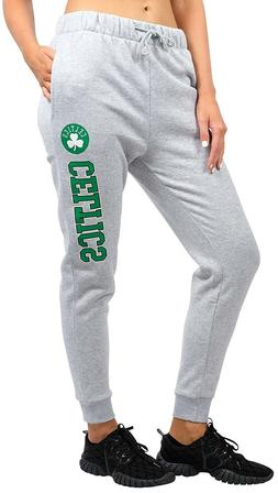 Boston Celtics NBA Women's Gray Jogger Fleece Sweatpants Pan