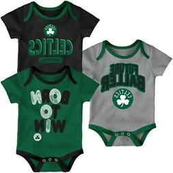 Boston Celtics Newborn Little Fan Three-Pack Bodysuit Set -