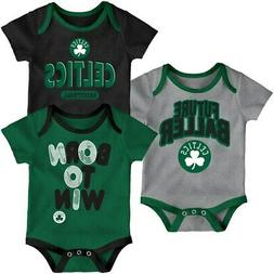 Boston Celtics Newborn Little Fan Three-Pack Bodysuit Set -