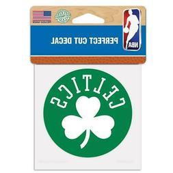 """Boston Celtics Perfect Cut 4""""x4"""" Color Decal  NBA Auto Stick"""