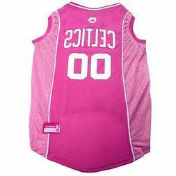 Pets First Boston Celtics Pink Jersey