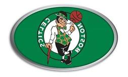 Boston Celtics PV Raised Metal OVAL Color Chrome Auto Emblem