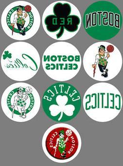 Boston Celtics Set of 10 Buttons or Magnets Set 1.25 inch
