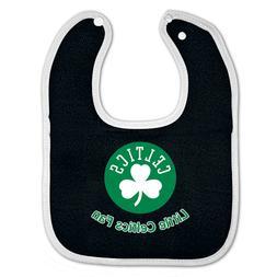 boston celtics snap baby bib new