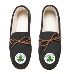 Boston Celtics Team Color NBA Men's Moccasins Slippers FREE