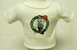 "Boston Celtics Theme Silver Glitter Transfer T-Shirt For 16"""