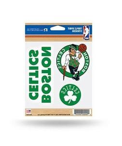 Boston Celtics Triple Spirit Sticker Sheet Die Cut Decal New