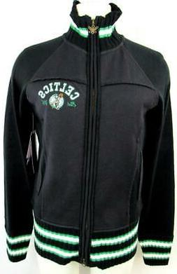Boston Celtics Womens Medium or Large Touch Full Zip Sweater