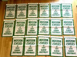 Complete Set Boston Celtics NBA Champions 17 Banners/Flags L