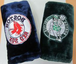 Dark Green BOSTON CELTICS & Dark Blue RED SOX Thick Cozy Plu