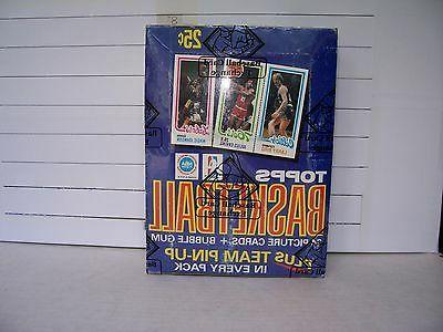 1980 81 topps basketball 36 pack box