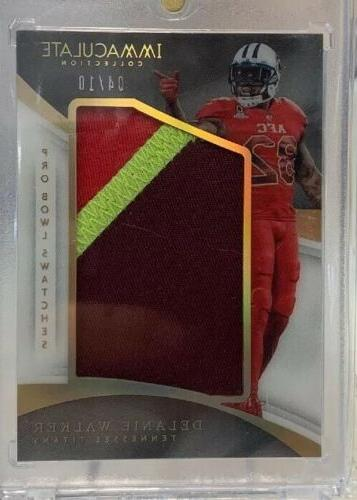 2017 immaculate collection delanie walker pro bowl