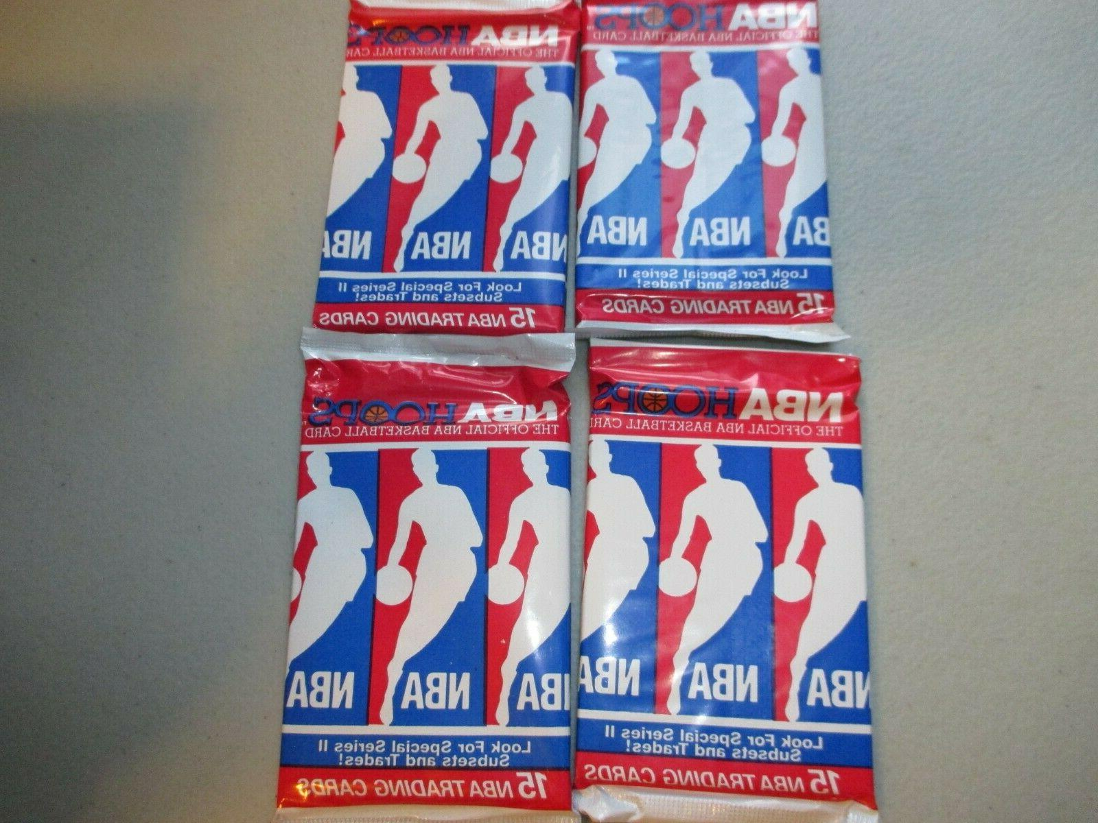 4 packs of 1990 1991 nba hoops