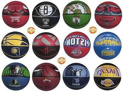 basketball nba team official sized balls courtside
