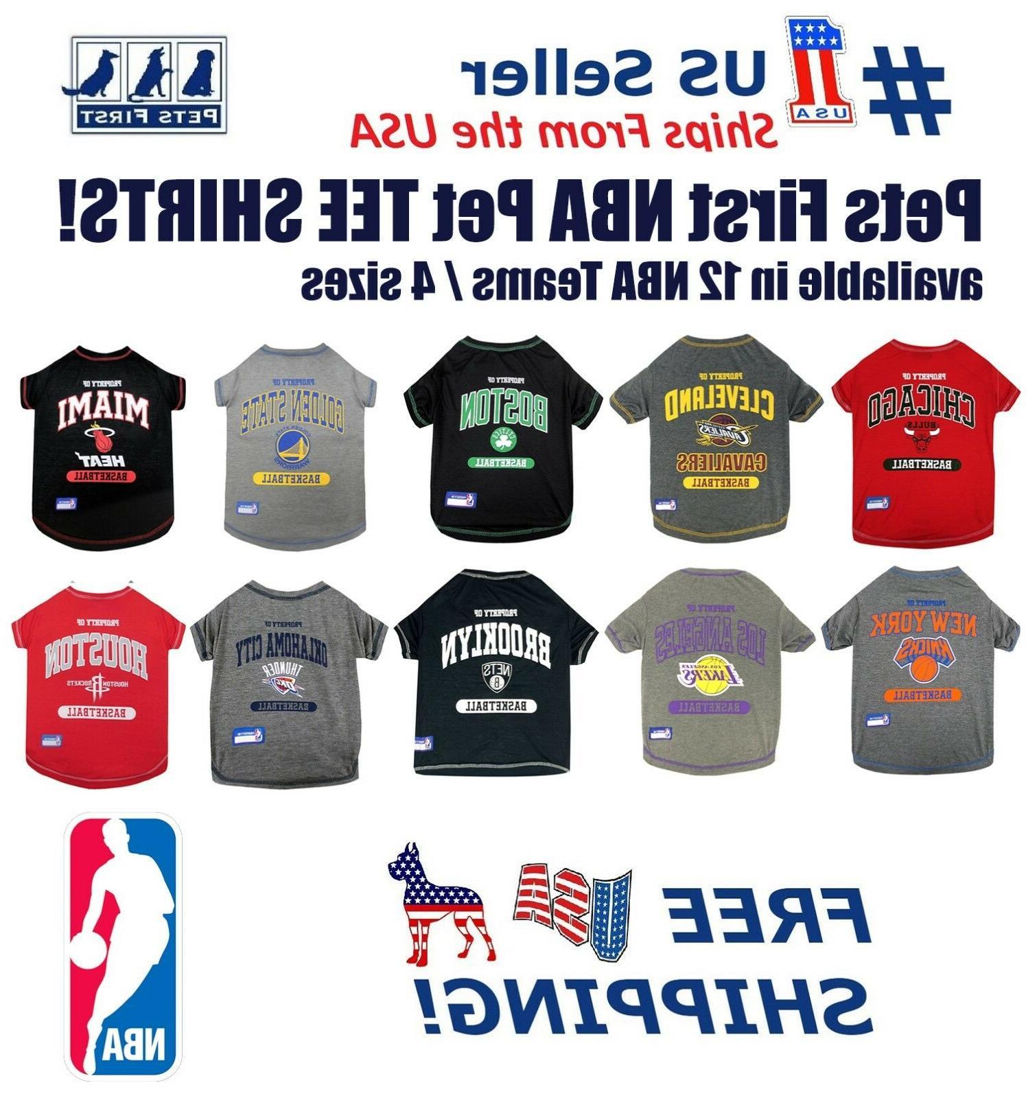 basketball pet tee shirts nba licensed comfortable
