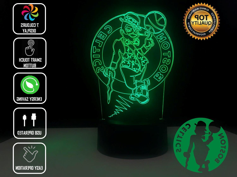 boston celtics baskeball 3d acrylic led 7