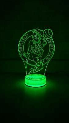Boston Celtics Basketball 3D Night Light Color Changing Illu
