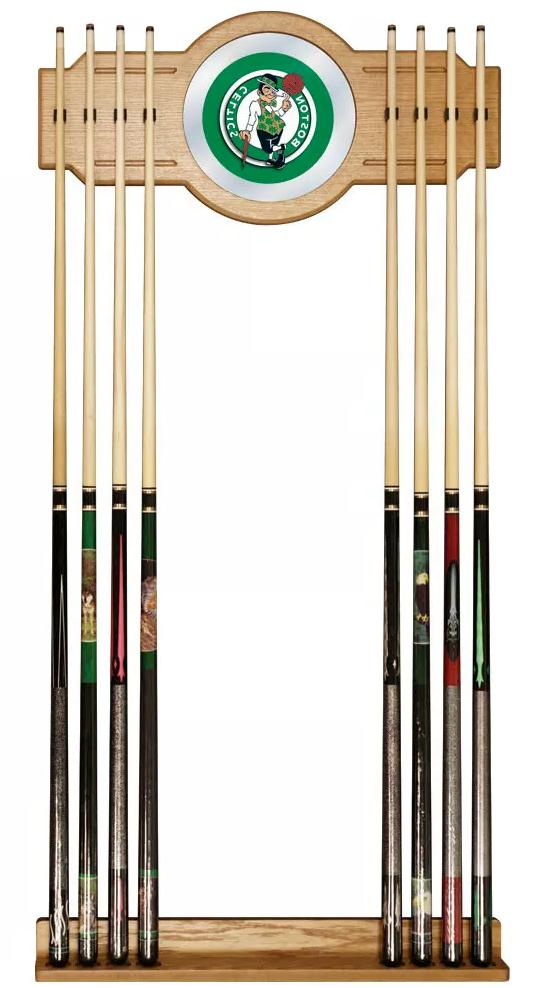 Boston Celtics Billiard Cue Stick Rack Mirror