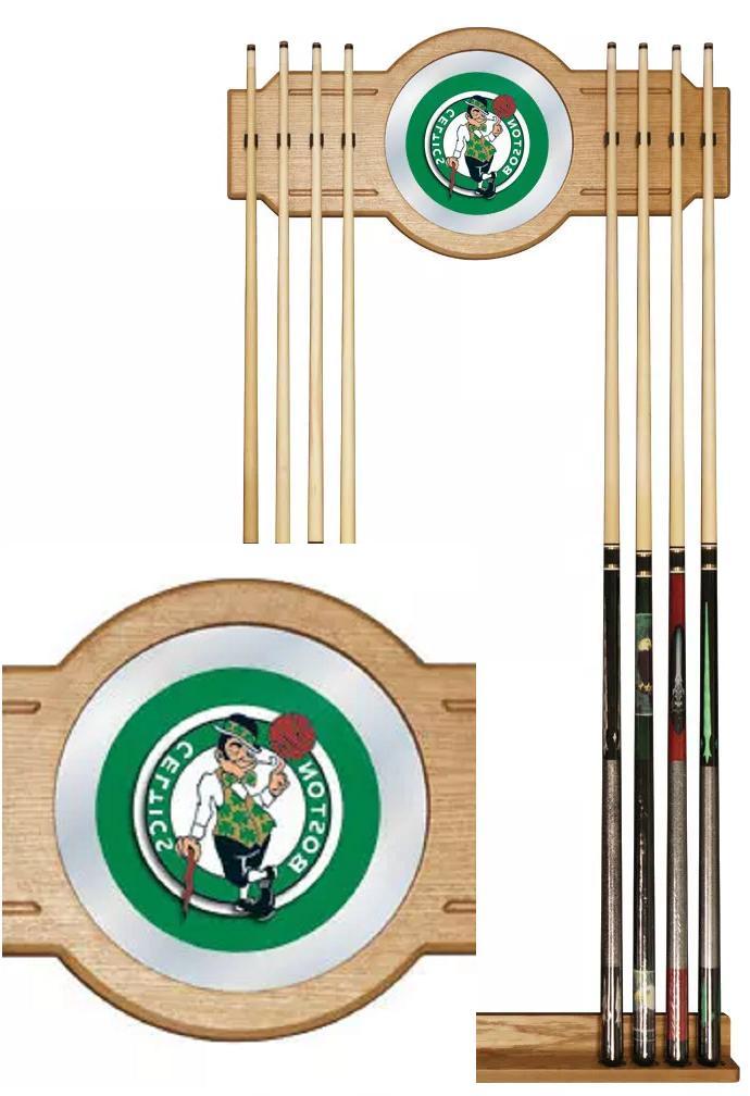 boston celtics billiard pool cue stick rack
