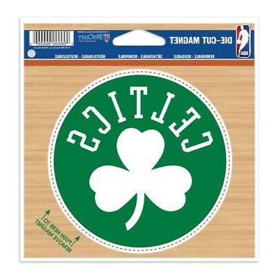 boston celtics die cut vinyl magnet 4