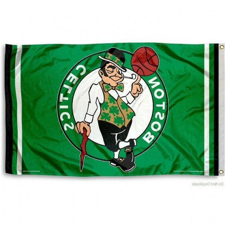 BOSTON CELTICS FLAG 3'X5' NBA LOGO BANNER: FAST FREE SHIPPIN