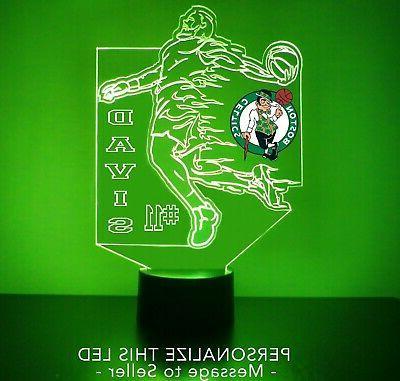 boston celtics led night light personalized free
