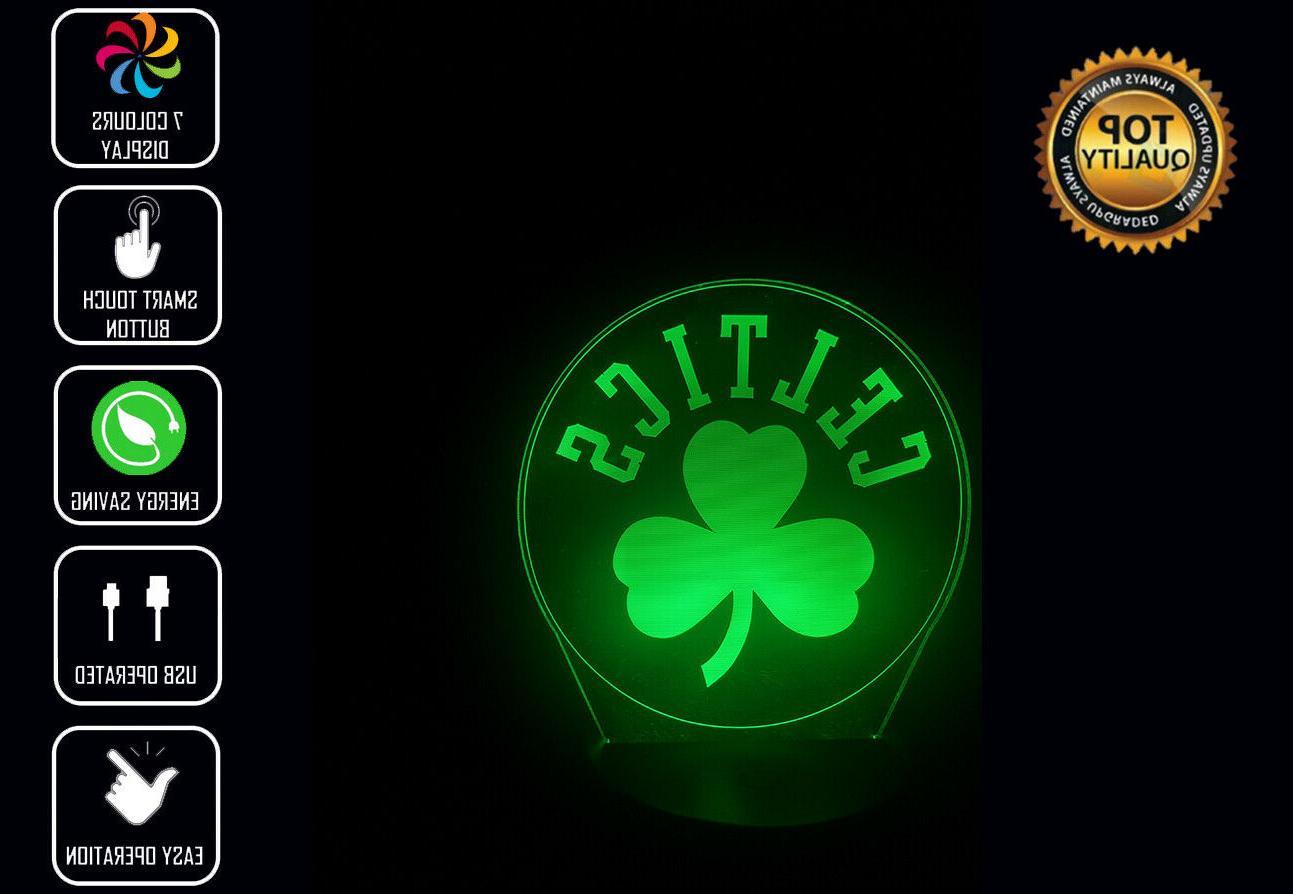 boston celtics nba 3d acrylic led 7