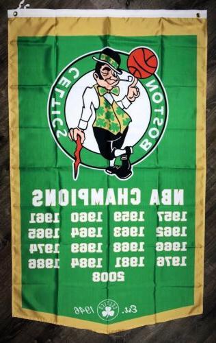 boston celtics nba championship flag 3x5 ft