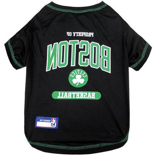 boston celtics nba dog pet tee shirt