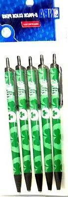 BOSTON CELTICS NBA Plastic Click Pens Set of 5 -FREE U.S. Sh