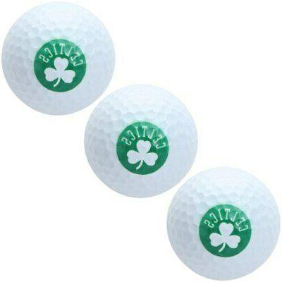 boston celtics pack of 3 golf balls
