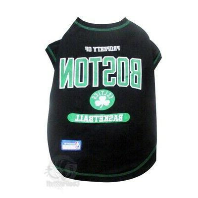 boston celtics pet t shirt small