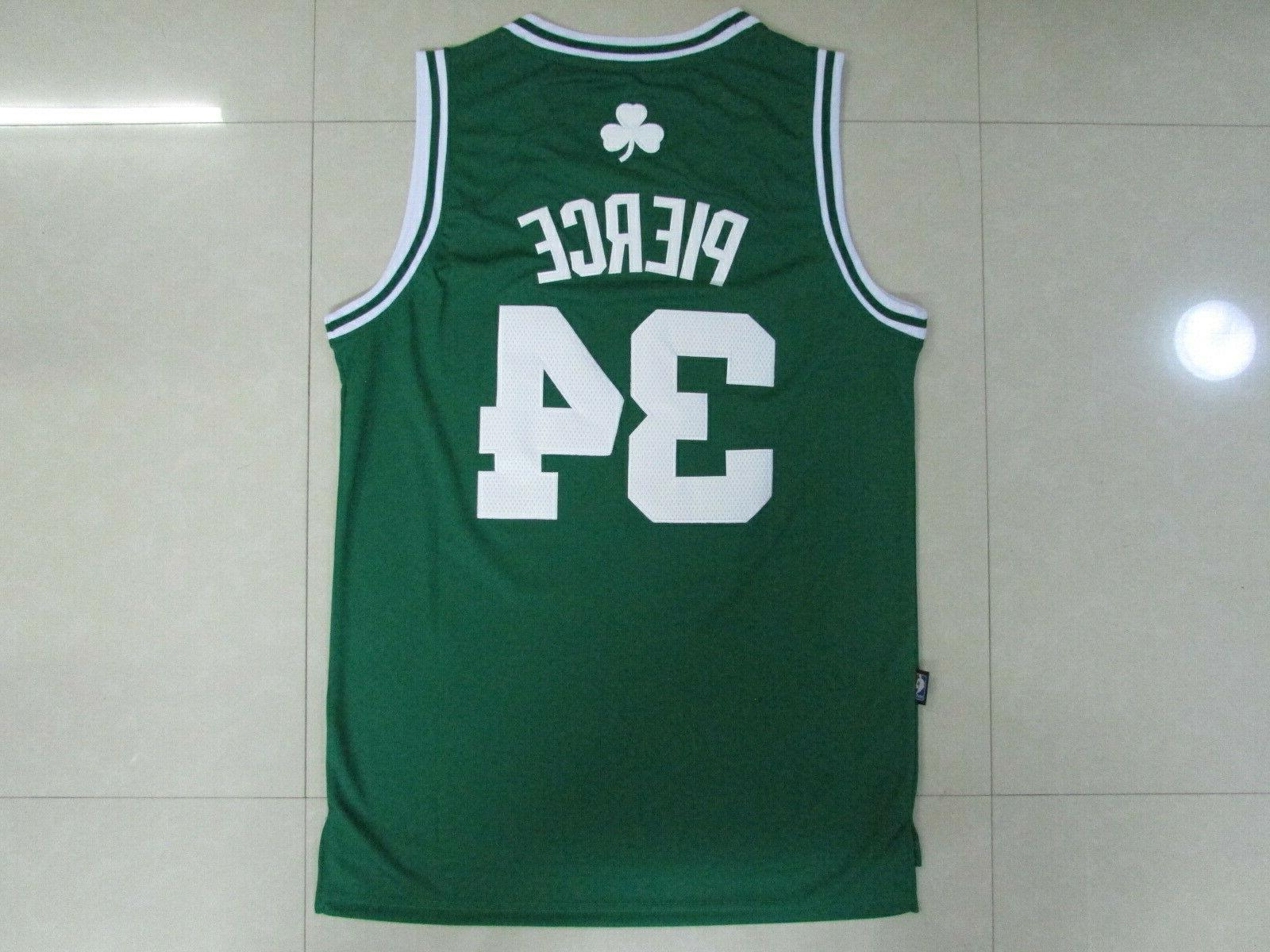 boston celtics pierce no 34 jersey green