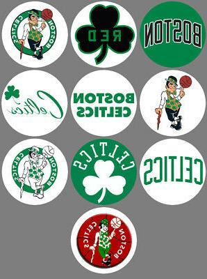 boston celtics set of 10 buttons or