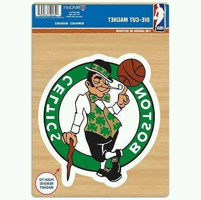 boston celtics vinyl die cut logo magnet
