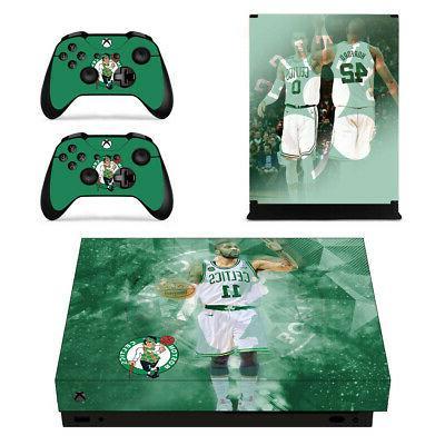Boston Celtics XBOX ONE X Skin Sticker Decal Vinyl Console+