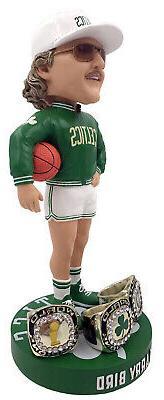 Larry Bird  3X Champ Ring Base NBA Bobblehead Exclusive #/75