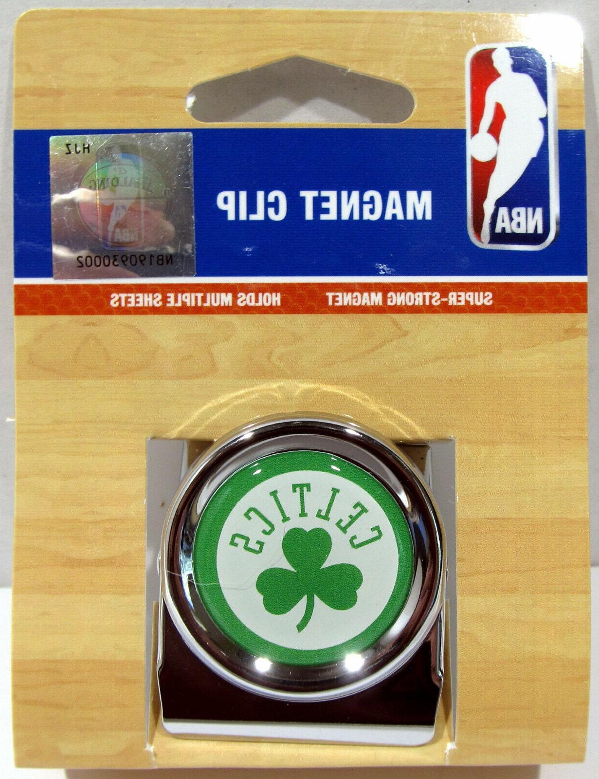 nba boston celtics magnet refrigerator chrome clip