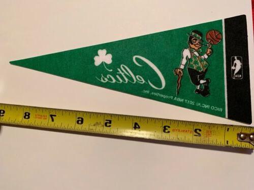 "NBA Celtics Pennant Flag 4""x9"" NEW Basketball Decor"